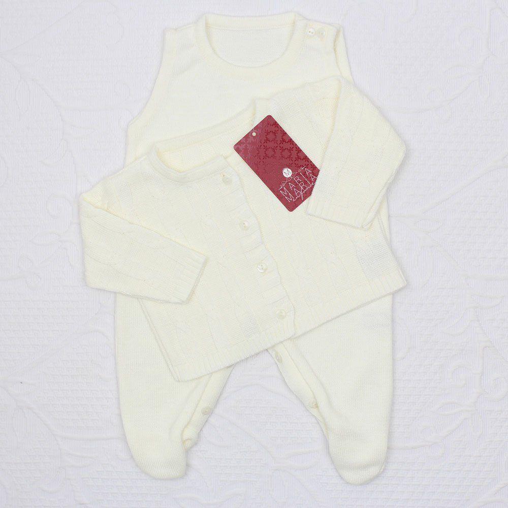 Saída de Maternidade Trançada Off White