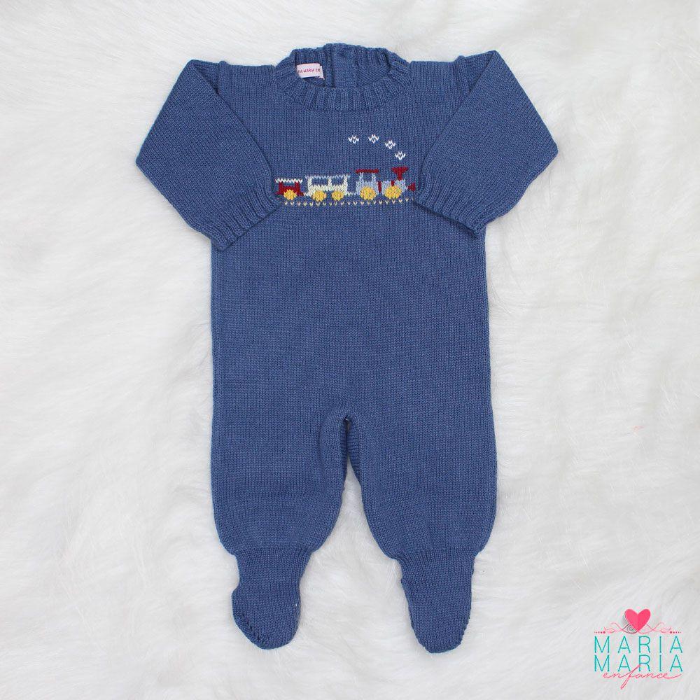 Saída de Maternidade Trenzinho Azul Jeans