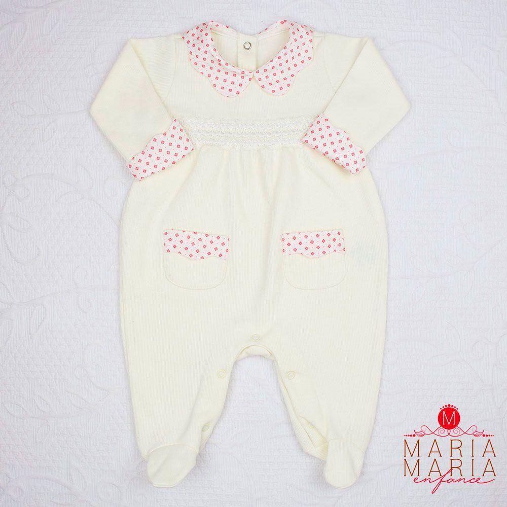 Saída de Maternidade Tricotil Valentina Off White