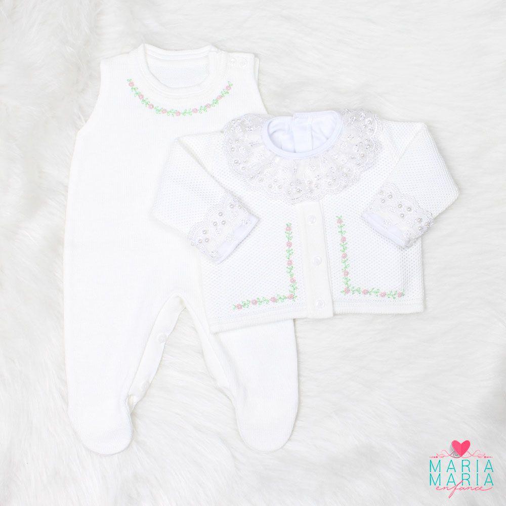 Saída de Maternidade Tuk Rococó Branco