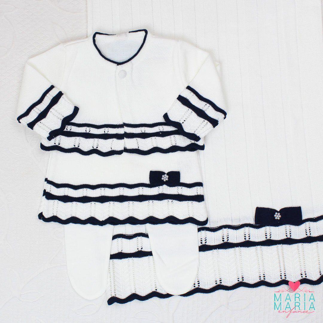 Saída de Maternidade Vestido Chanel Braco e Marinho