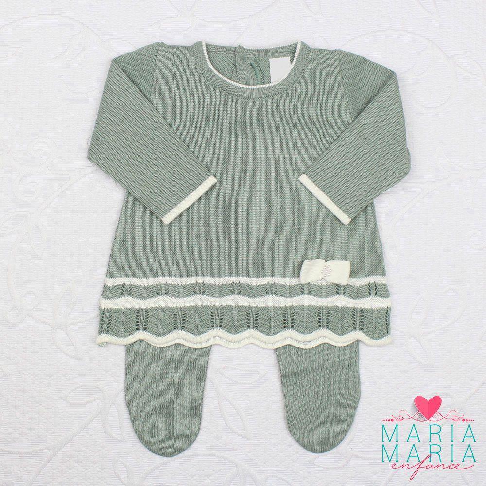 Saída de Maternidade Vestido Chanel Verde Maré