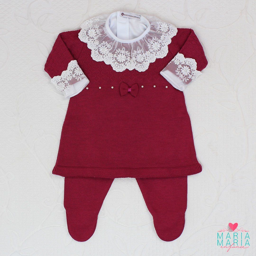 Saída de Maternidade Vestido Laço Marsala
