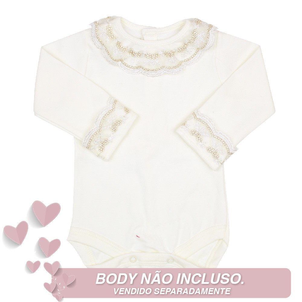 Saída de Maternidade Vestido Laço Off White P