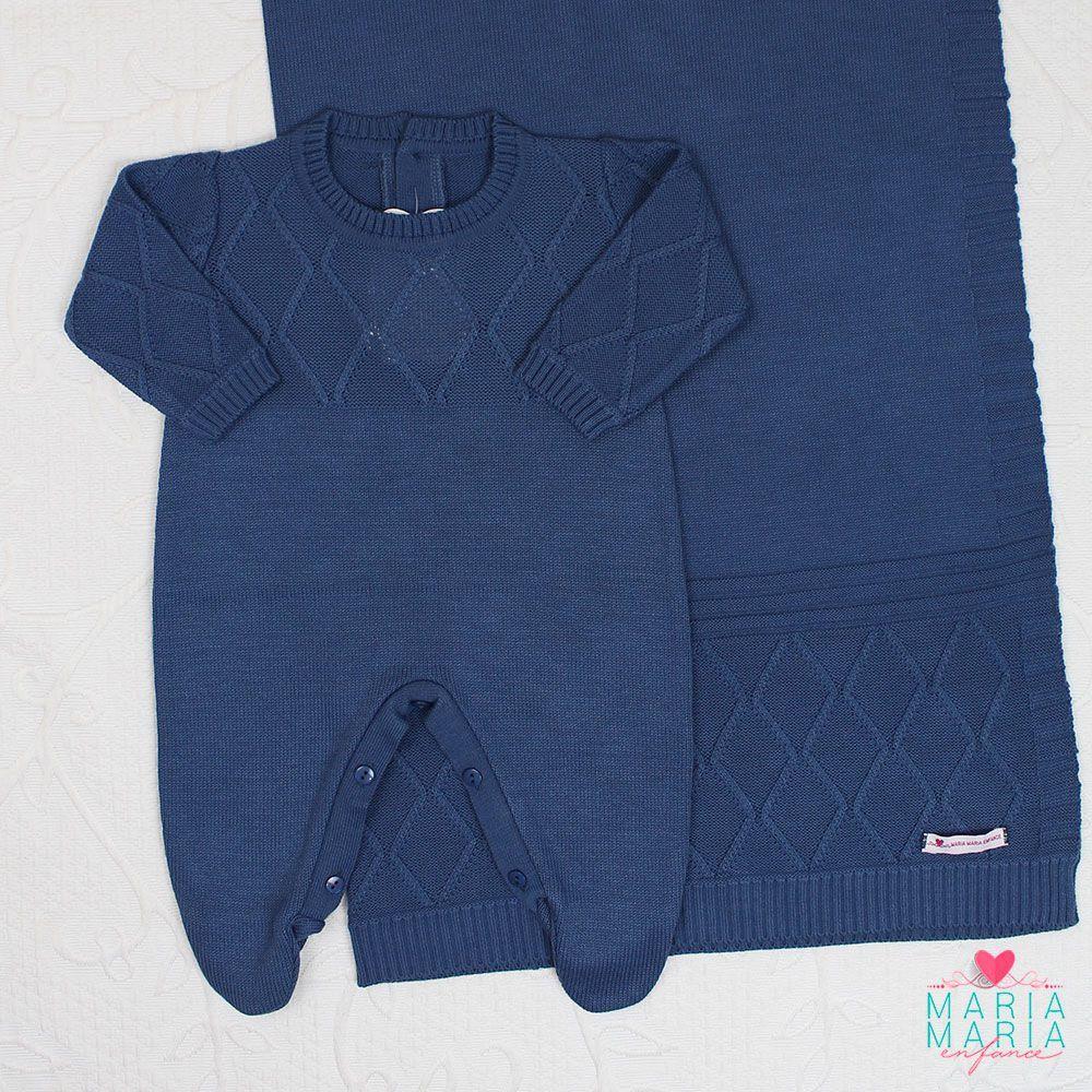Saída de Maternidade Viena Azul Jeans