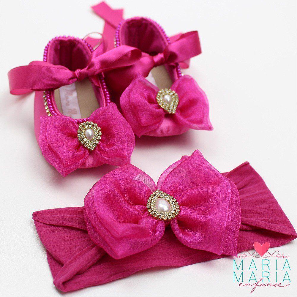 Sapatilha de Cetim Laço Pink