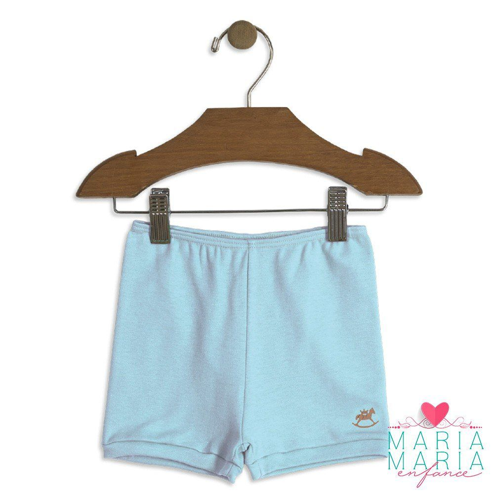 Shorts Suedine Azul Claro