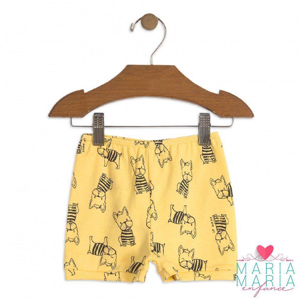 Shorts Suedine Buldogue Amarelo