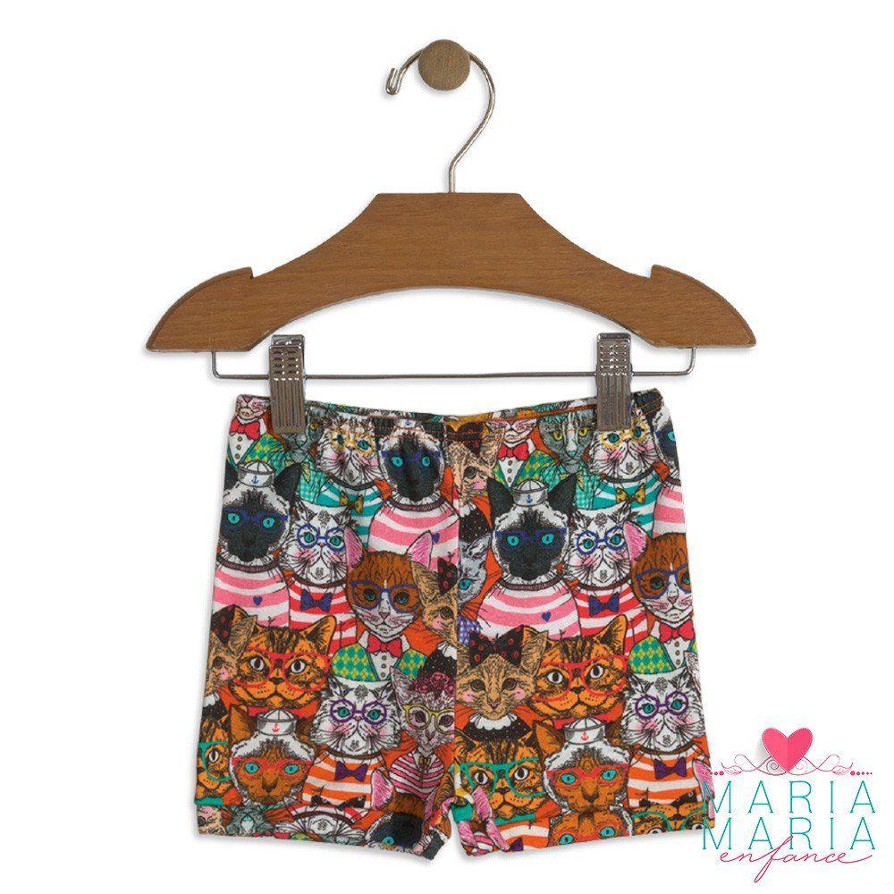Shorts Suedine Gatinhos