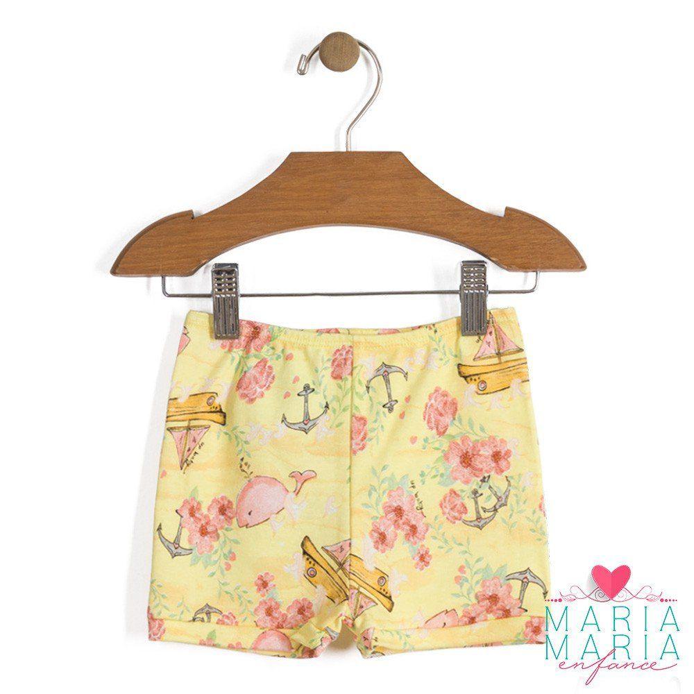 Shorts Suedine Baleia Amarelo