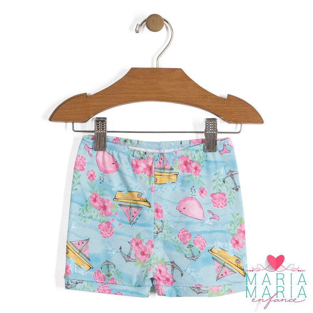 Shorts Suedine Baleia Azul