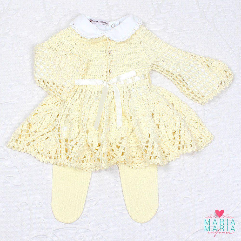 Vestido Crochê Amarelo Maria Maria Enfance Loja De