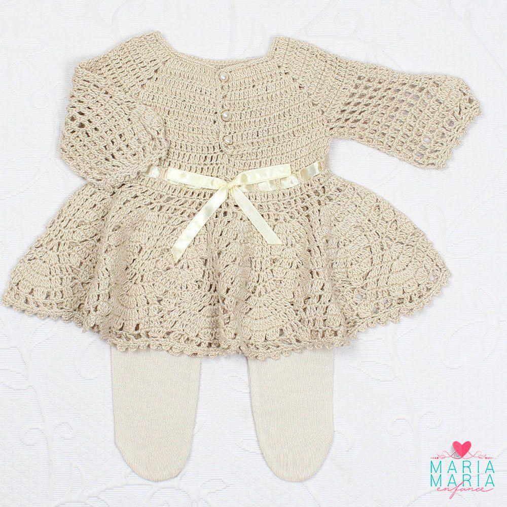 Vestido Crochê Caqui Maria Maria Enfance Loja De Roupas