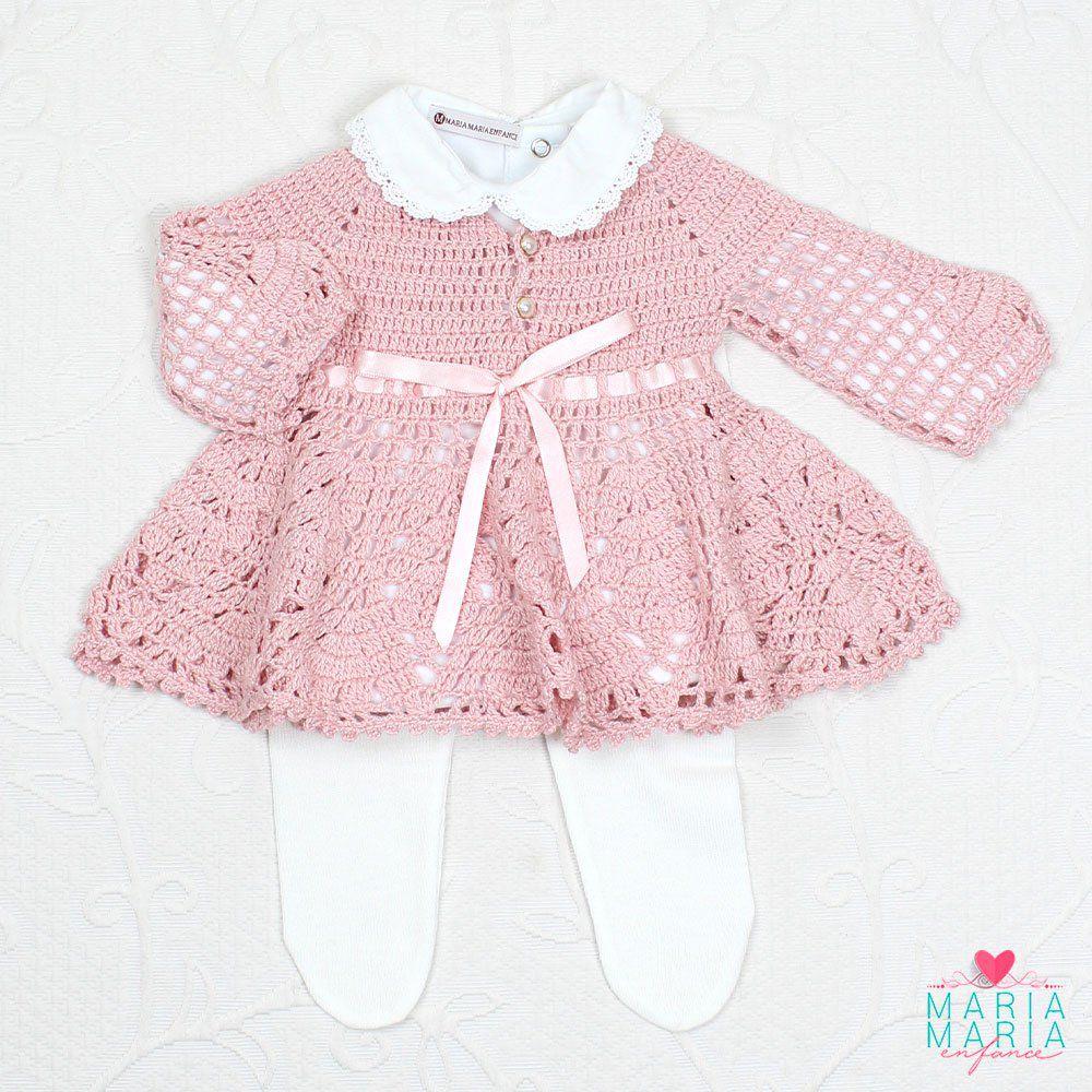 Vestido Crochê Rosê Maria Maria Enfance Loja De Roupas