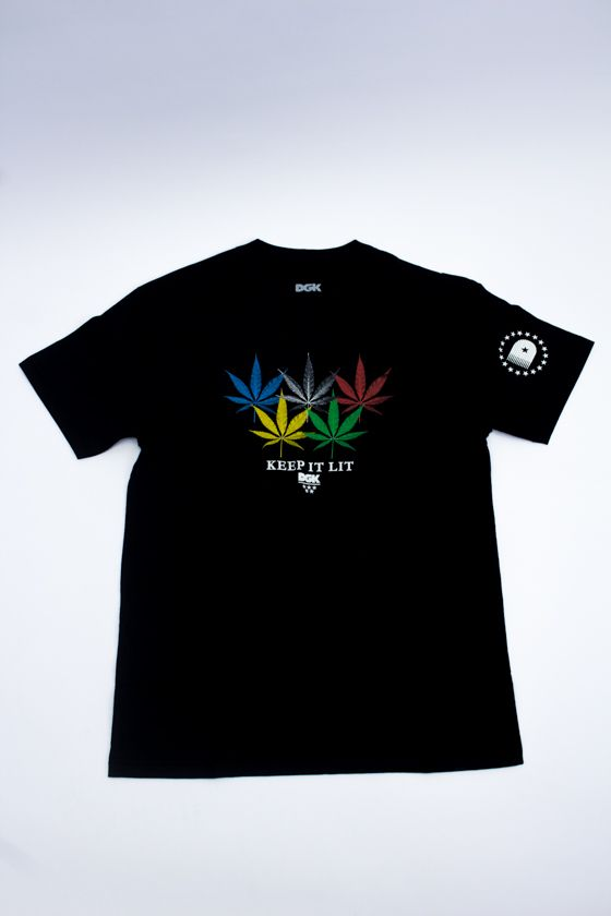 "CAMISETA DGK ""INTERNATIONAL"" PRETA"