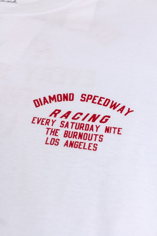 "CAMISETA DIAMOND ""SPEEDWAY"" BRANCA"