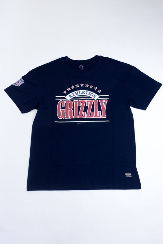 """CAMISETA GRIZZLY """"LINESCAPE"""" AZUL"""