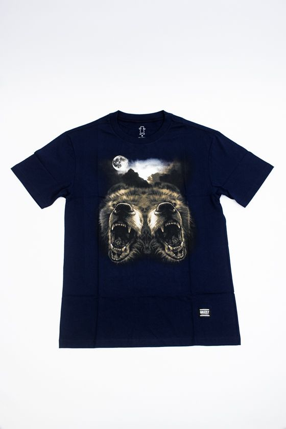 """CAMISETA GRIZZLY """"ROAR AT THE MOON"""" AZUL"""