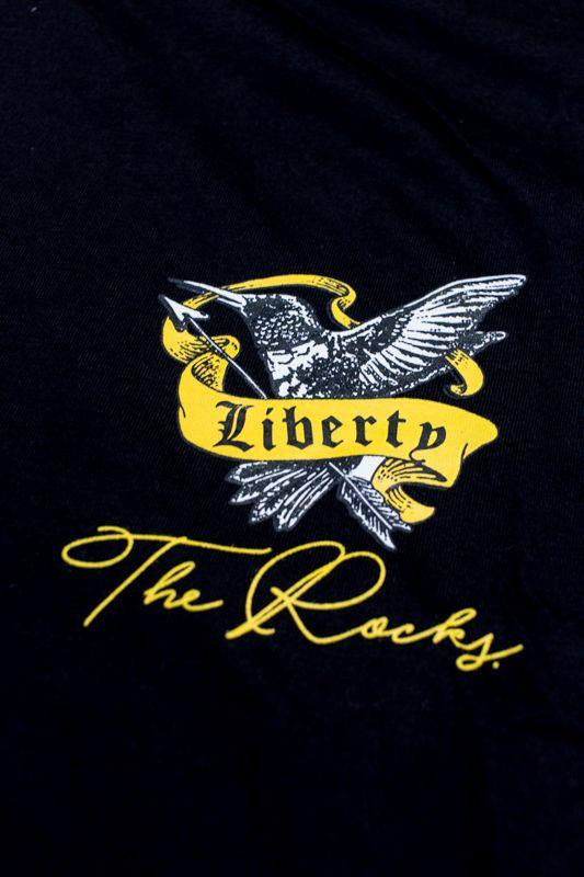 "CAMISETA THE ROCKS ""LIBERTY"" PRETA"
