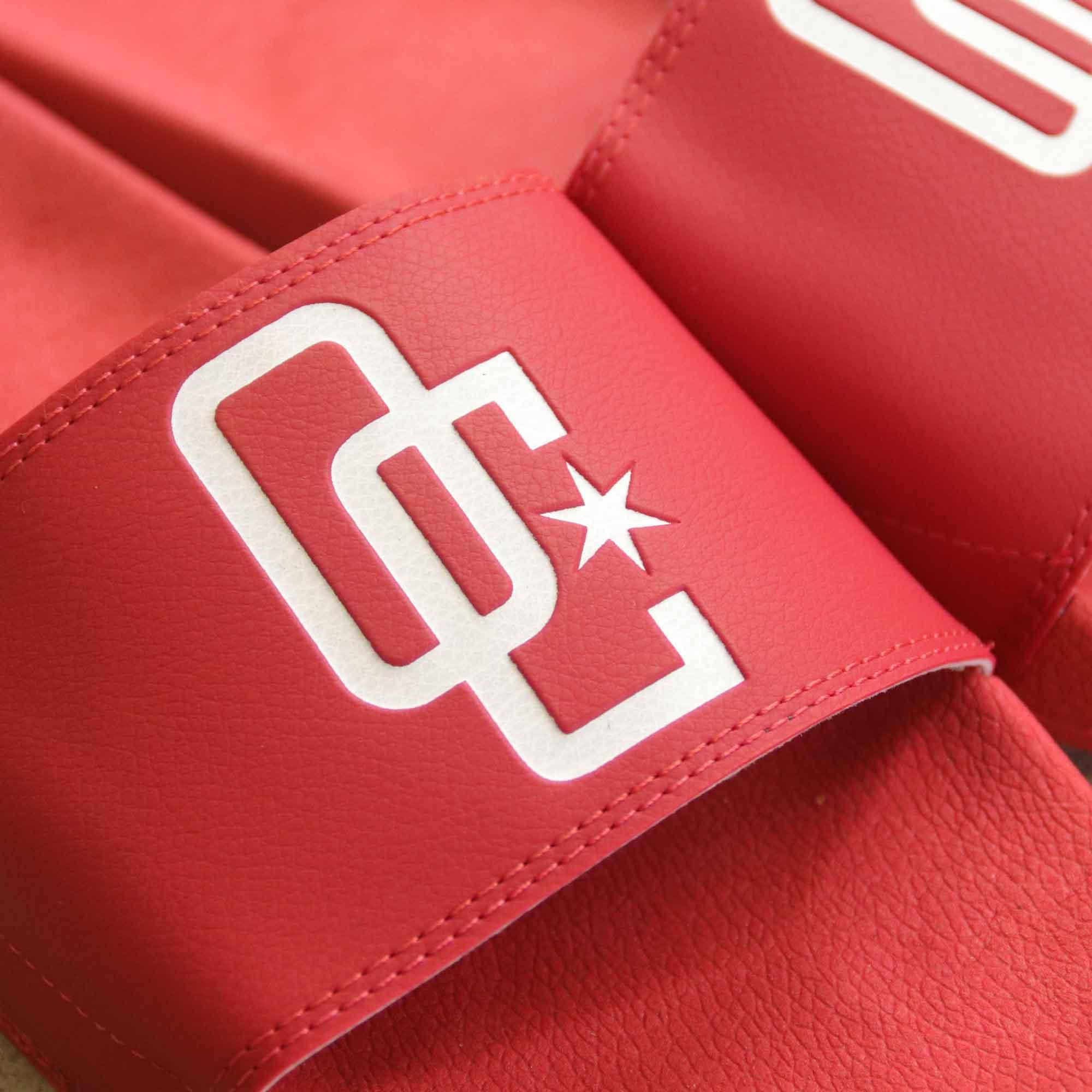 """Chinelo Overcome """"Logo"""" Vermelho"""