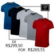 Kit Camiseta Básica Plus Size