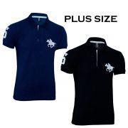 Kit com 02 Polos Tradicionais da Marca Preto e Marinho Plus Size