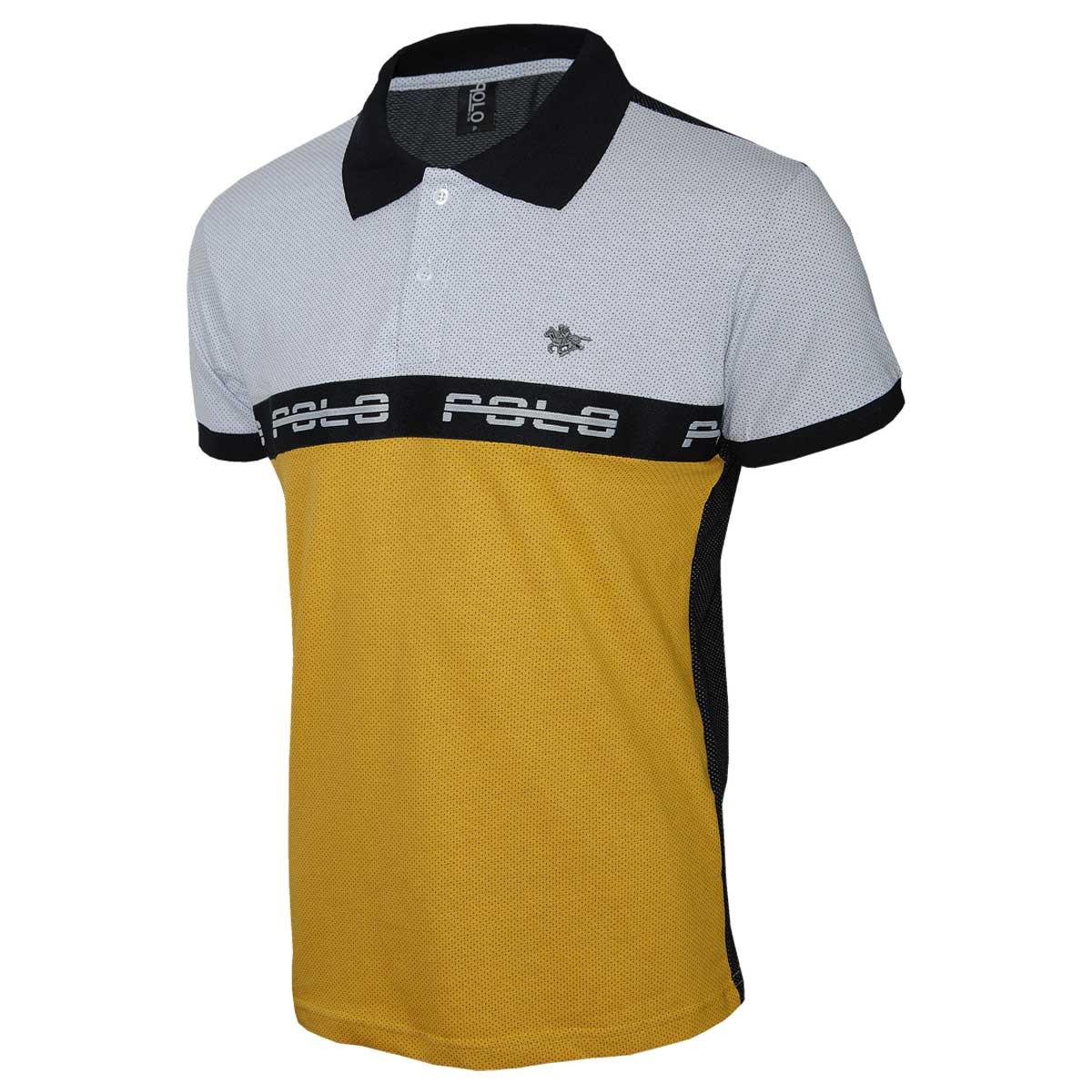 Camisa Polo em Malha Micro Furos