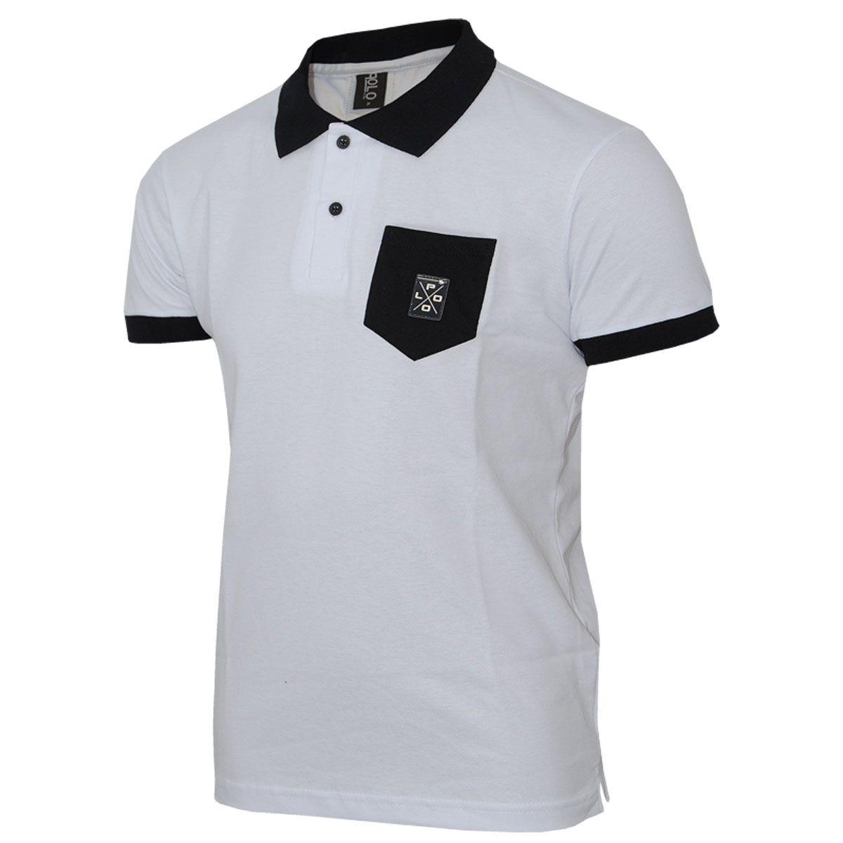 20a88b39d1596 Camisa polo com Bolso e aplique