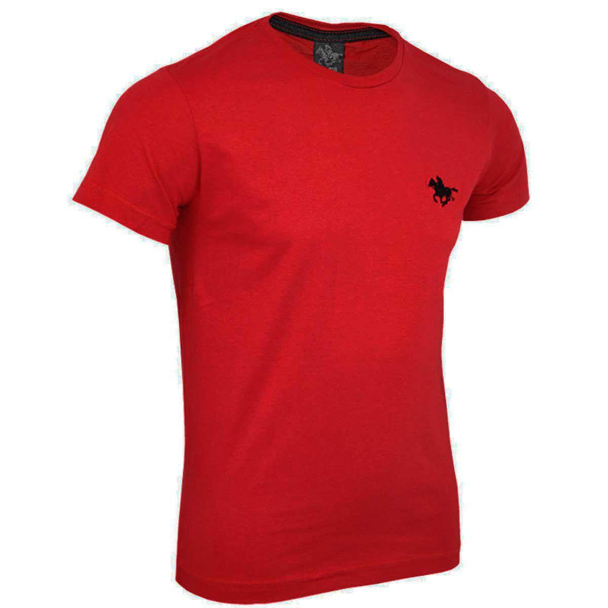Camiseta Básica com Logo Bordado