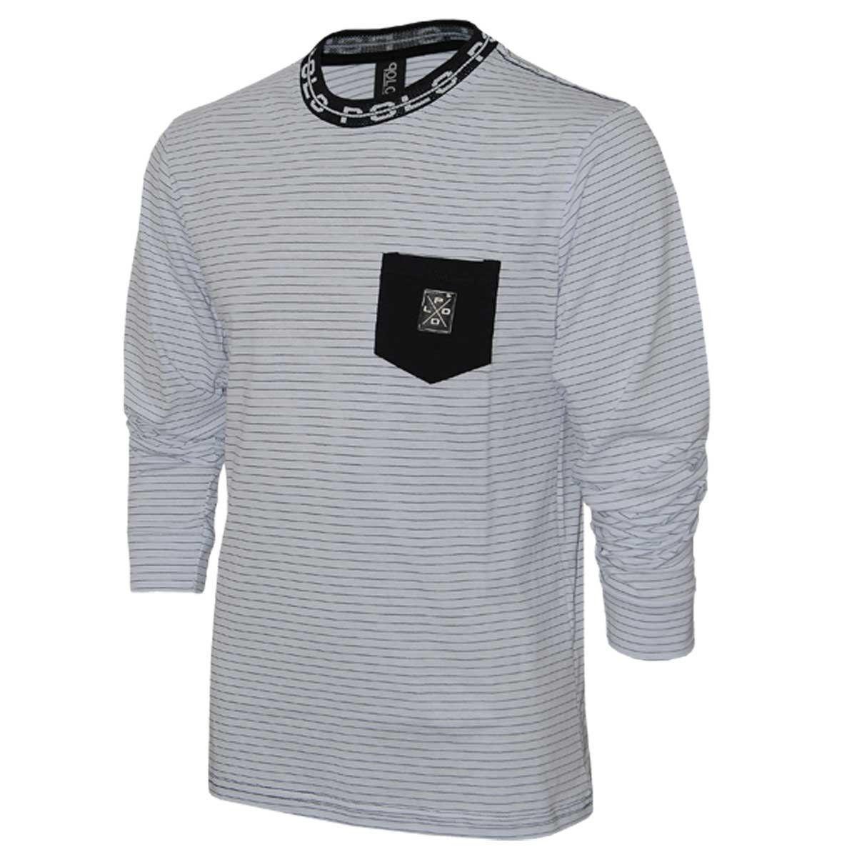 Camiseta Manga Longa com Bolso