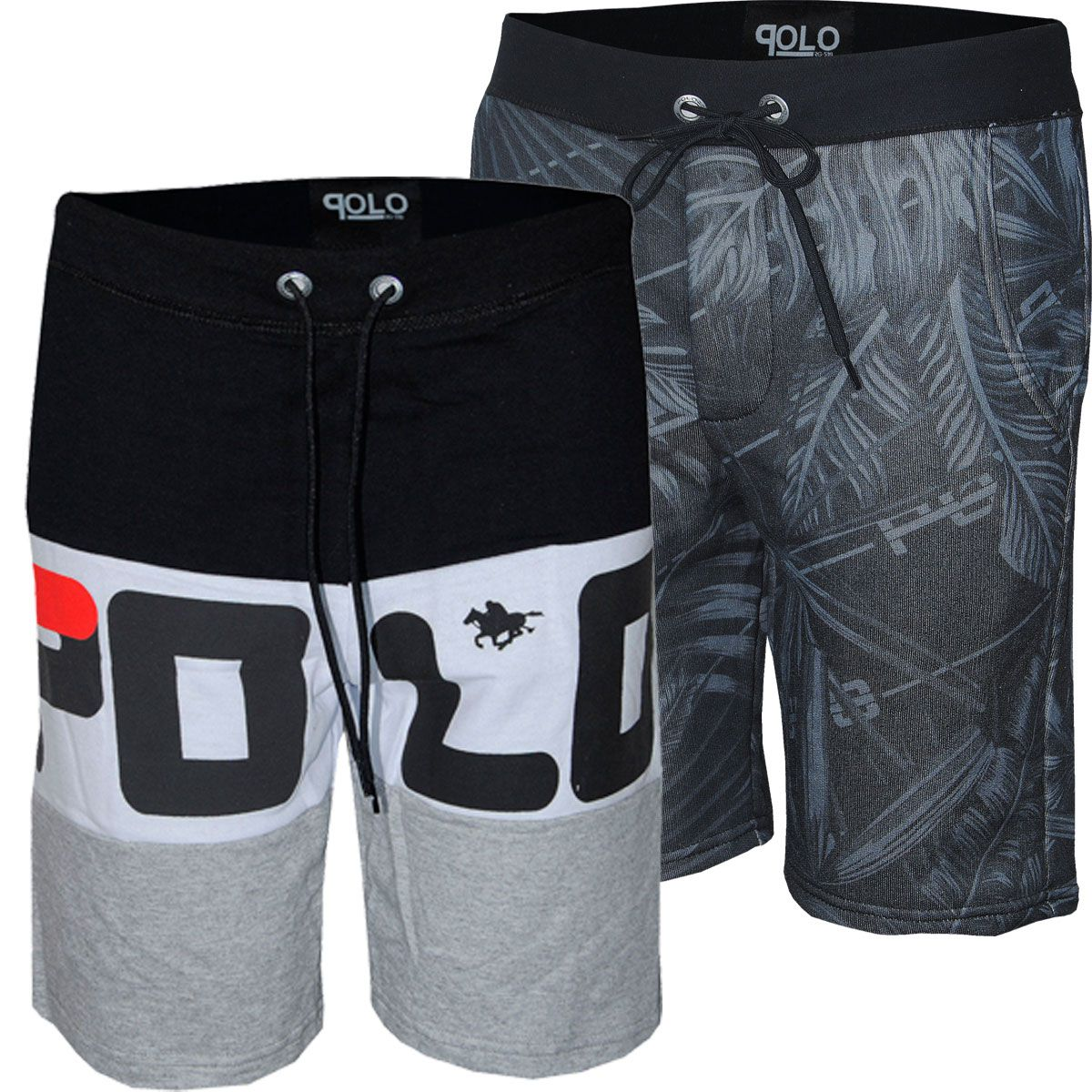 Kit Bermudas Masculinas em Moletom Estampa Silk e Sublimada