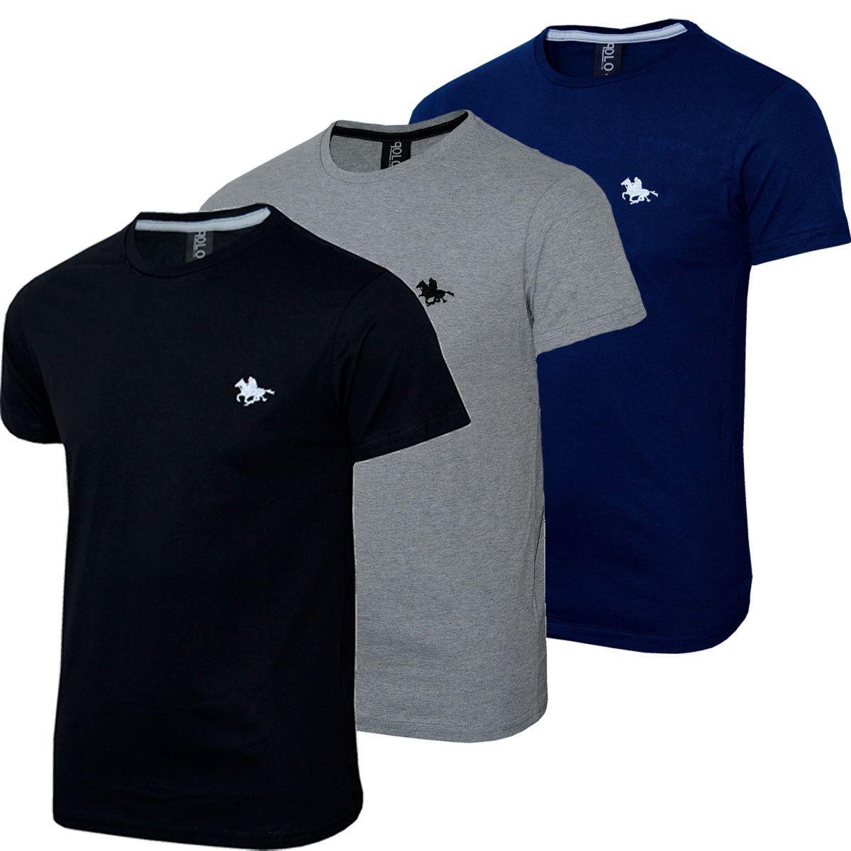 Kit C/3 Un Camisas Blusas Masculinas