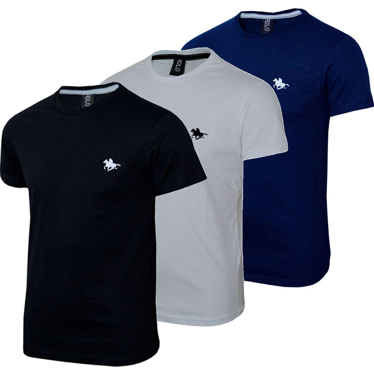 Kit C/3 Un Camisetas Blusas Masculinas