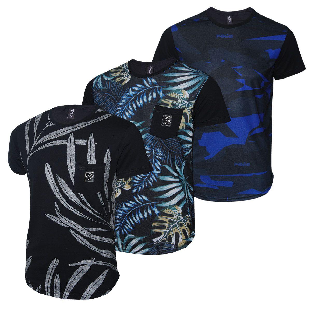 Kit Camisetas Masculinas Swag Carnaval