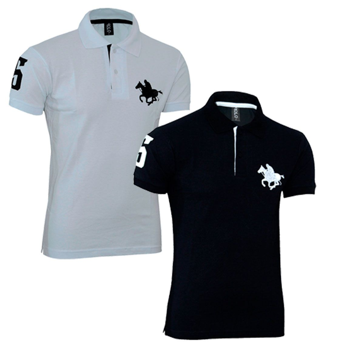 Kit com 02 Polos Tradicionais da Marca Com Logo Bordado
