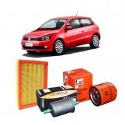 Kit Filtros Ar Oleo Combustível Gol G5 G6 G7  1.0