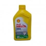 Oleo motor semi sintetico 15w40 sl helix hx6 shell oleo motor sintetico, motores alc, gas, flex e gnv