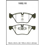 Pastilha freio dianteira asumi bmw 120 / 130 / 318 / 320 04 > e87 / e90