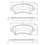 Pastilha freio dianteira cobreq toyota corolla 1.6, 1.8 16v 02 > 08 corolla fielder 1.8 16v 02 > 08