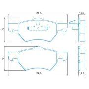 Pastilha freio dianteira jurid chrysler grand caravan 2.4, 2.5, 3.3 99 >