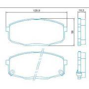 Pastilha freio dianteira jurid hyundai i30 2.0 16v 10 > carens 1.6 / 1.8 02 > cerato 1.6 16v / 2.0 16v 09 >