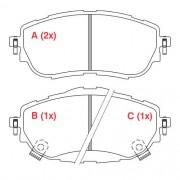 Pastilha freio dianteira jurid toyota corolla 1.8 / 2.0 14 >