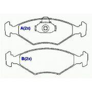 Pastilha freio dianteira syl fiat palio, siena 1.0, 1.5, 1.6 98 > 09 fiorino 93 >