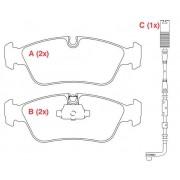 Pastilha freio dianteira WILLTEC bmw 120 / 130 04 > 318 / 320 05 > e87 / e90