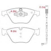 Pastilha freio dianteira WILLTEC bmw 318i, 320, 323i, 325, 328i, x1