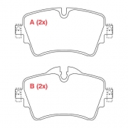 Pastilha freio dianteira willtec bmw, mini 216 / 218 f45 / f46 14 > x1 1.6 14 >17 cooper s f55 / f56 14 >
