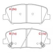 Pastilha freio dianteira willtec hyundai, kia azera 12 > optima 2.0 12 >
