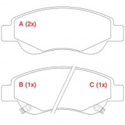 Pastilha freio dianteira WILLTEC JACMOTORS J2 1.4 16V 2013 >