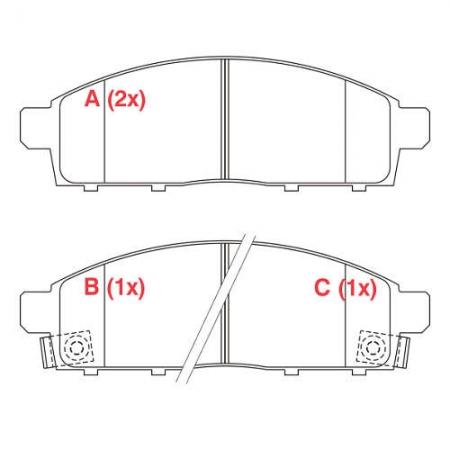 Pastilha freio dianteira willtec mitsubishi l200 triton 08 > pajero dakar 3.2 4x4 09 >