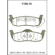 Pastilha freio traseira asumi chrysler comander 5.7 07 > cherokee / grand cherokee 3.7 / 4.7 / 5.7 v8 orverland hemi / limited / laredo 05 >